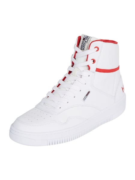 Tommy Jeans P2385layer 1a - High Top Sneaker aus Leder Weiß