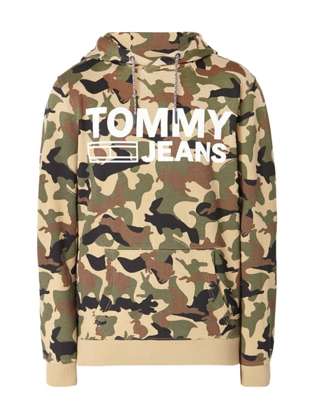 Tommy Jeans Tjm Camo Hd - Hoodie mit Camouflage-Muster Olivgrün