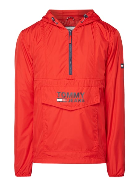 Tommy Jeans Tjm Pop Over - Jacke in Schlupfform Rot