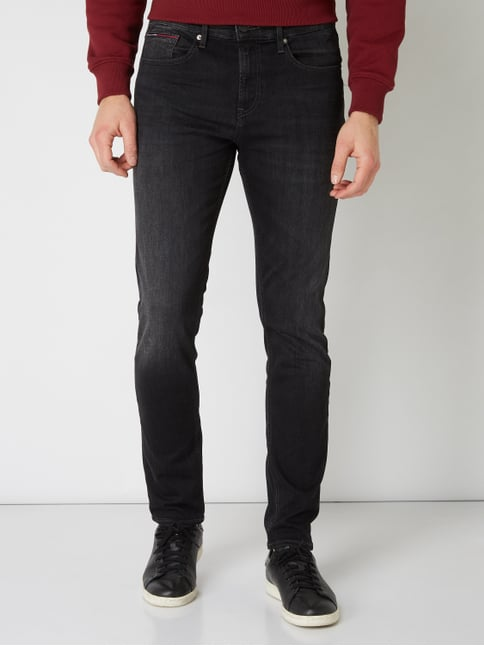 8e6424563537 ... Tommy Jeans Light Stone Washed Slim Tapered Fit Jeans Schwarz - 1