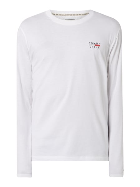Tommy Jeans – Longsleeve aus Organic Cotton – Weiß