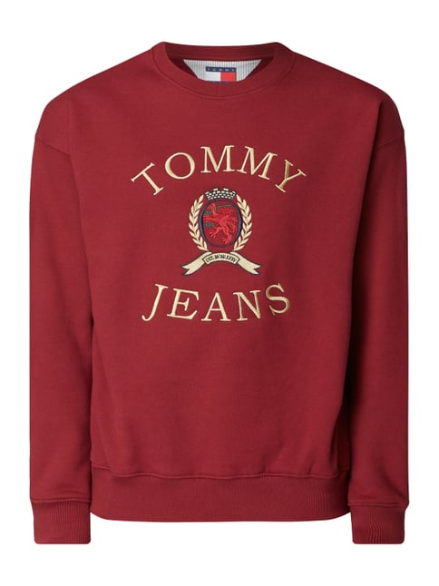 a02f5d94fe Tommy Jeans Pullover mit Logo-Stickerei Rot - 1 ...