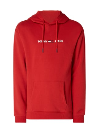 0bbdedefc830c Tommy Jeans Relaxed Fit Hoodie mit Logo-Stickerei Rot - 1 ...