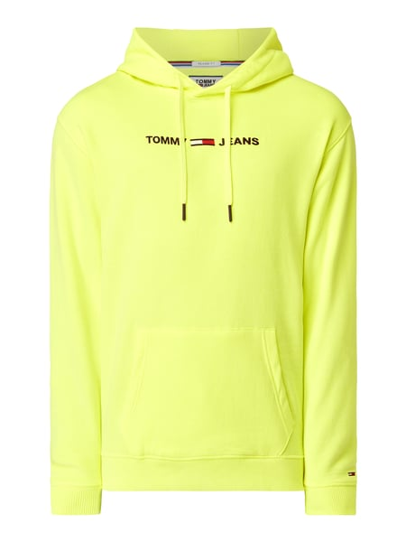 Tommy Jeans Relaxed Fit Hoodie mit Logo-Stickerei Gelb - 1