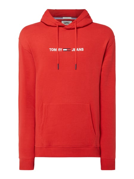 Tommy Jeans Relaxed Fit Hoodie mit Logo-Stickerei Rot - 1