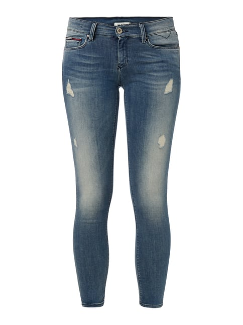 Skinny Fit 5-Pocket-Jeans im Destroyed Look Blau / Türkis - 1