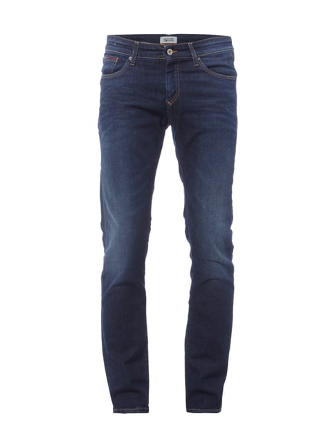 Slim Fit 5-Pocket-Jeans im Stone Washed-Look Blau / Türkis - 1