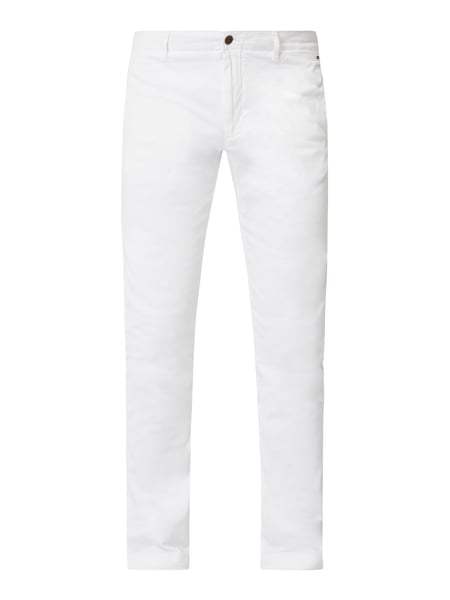 Tommy Jeans Slim Fit Chino mit Logo-Stickereien Weiß - 1