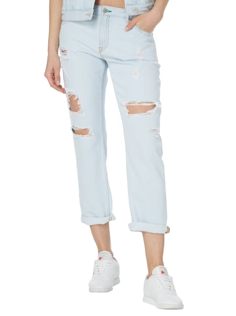 Hilfiger Denim Slim Fit Jeans im Destroyed Look Hellblau meliert - 1
