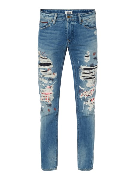 Tommy Jeans Slim Scanton Ico - Slim Fit Jeans im Destroyed & Repaired Look Jeans