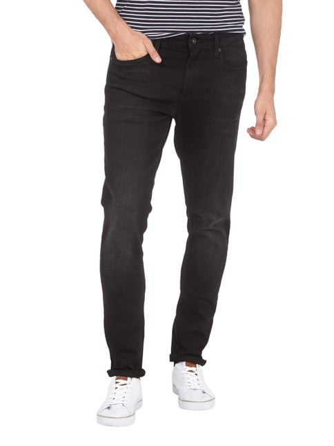 Hilfiger Denim Slim Fit Jeans im Stone Washed-Look Schwarz - 1