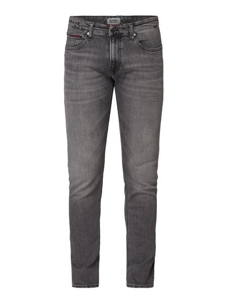Tommy Jeans Slim Fit Jeans mit Stretch-Anteil Grau - 1