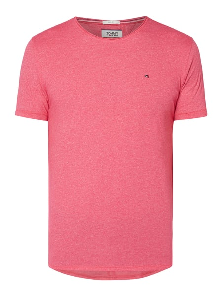 Tommy Jeans Slim Fit T-Shirt mit Logo-Stickerei Rosé - 1