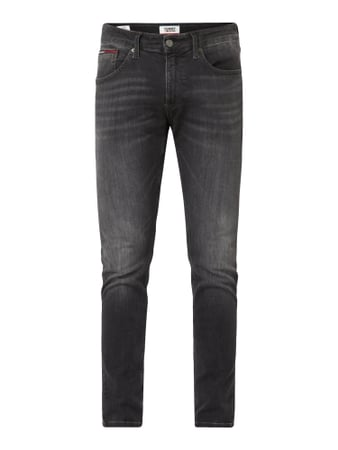 Tommy Jeans Slim Tapered Fit Jeans mit Stretch-Anteil Modell 'Steve' Grau - 1