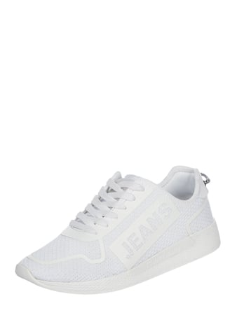 Tommy Jeans Sneaker aus Textil in Strick-Optik Weiß - 1