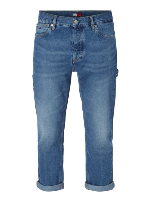 Stone Washed Classic Fit Jeans Blau / Türkis - 1