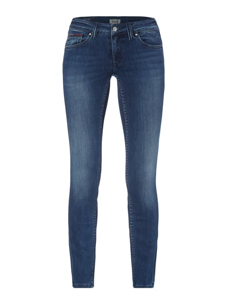 Tommy Jeans Stone Washed Skinny Fit 5-Pocket-Jeans Blau / Türkis - 1