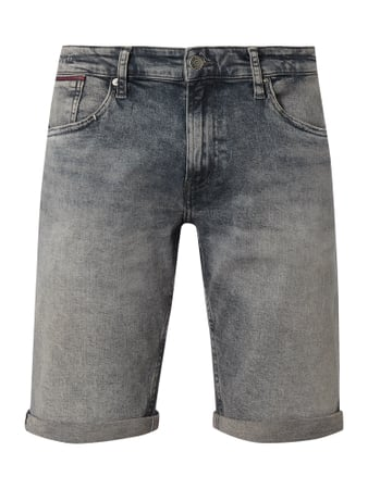 Tommy Jeans Stone Washed Tapered Fit Jeansshorts Grau - 1