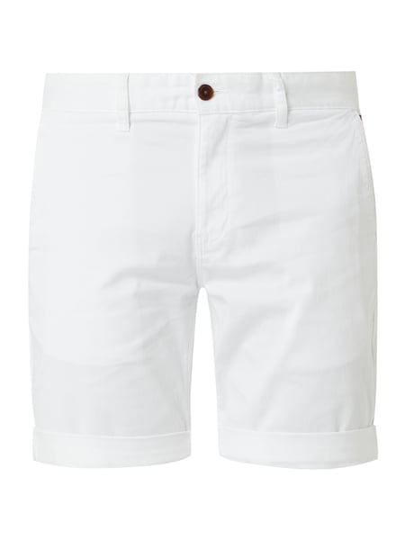 Tommy Jeans Straight Fit Chinoshorts mit Stretch-Anteil Weiß - 1
