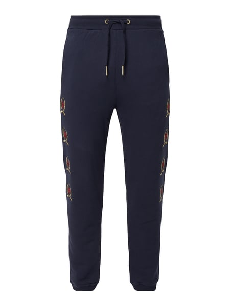 Tommy Jeans Sweatpants mit Wappen-Stickereien Türkis - 1