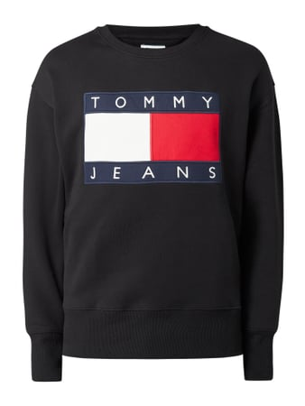 Tommy Jeans Sweatshirt aus Baumwolle - Better Cotton Initiative Schwarz - 1