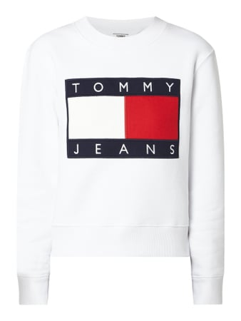 Tommy Jeans Sweatshirt mit Logo-Applikation - Better Cotton Initiative Weiß - 1