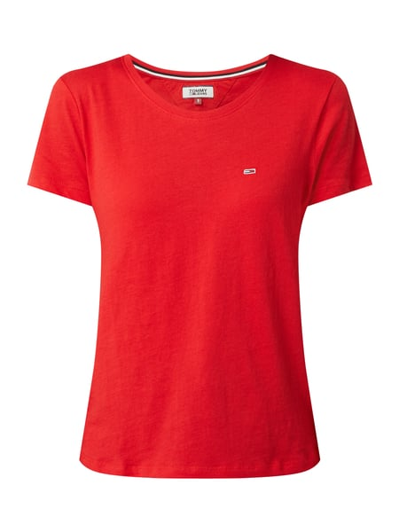 Tommy Jeans T-Shirt mit Logo-Aufnäher Rot - 1