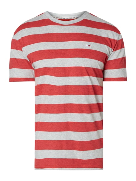 Tommy Jeans T-Shirt mit Logo-Stickerei Rot - 1