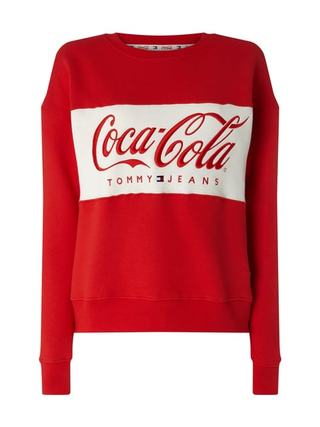 Tommy Jeans Tommy Jeans x Coca Cola® Sweatshirt mit Logo-Stickerei Rot - 1