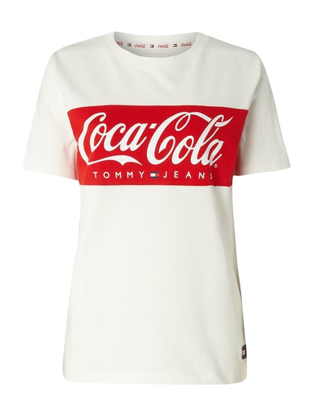 c0251435 Tommy Jeans Tommy Jeans X Coca Cola T Shirt Mit Logo Print In Weiss