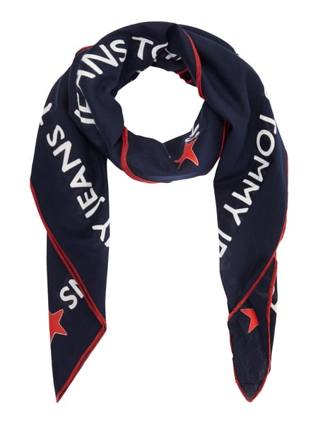 Tommy Jeans Thd Tommy Loves - Tuch mit Logo-Muster Dunkelblau