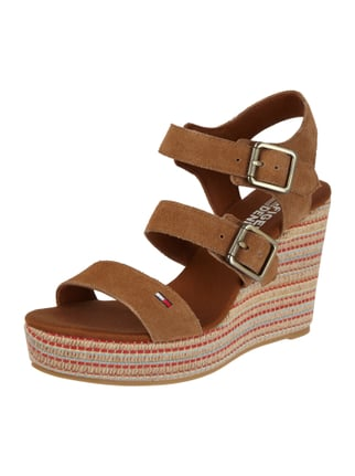 Wedges aus Veloursleder Braun - 1