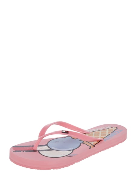 Tommy Jeans Zehentrenner mit Print Rosa - 1