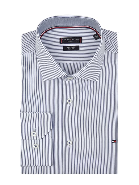 TOMMY TAILORED Slim Fit Business-Hemd aus Baumwolle Blau - 1