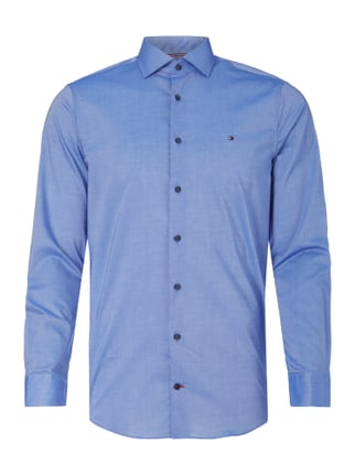 Slim Fit Business-Hemd aus Baumwolle Blau / Türkis - 1