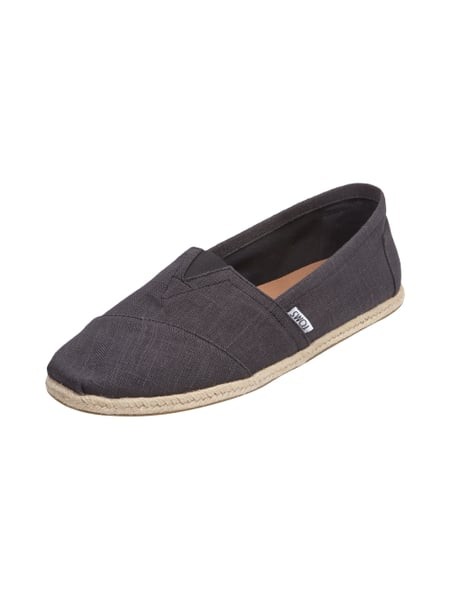 toms espadrilles aus leinen in grau schwarz online kaufen 9446446 p c online shop sterreich. Black Bedroom Furniture Sets. Home Design Ideas
