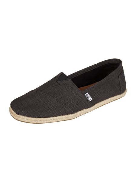toms espadrilles mit besatz in flechtoptik in grau schwarz online kaufen 9595517 p c online. Black Bedroom Furniture Sets. Home Design Ideas