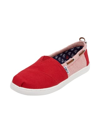 Slip-On Sneaker aus Canvas Rot - 1