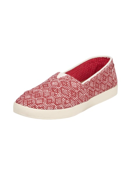 the latest 0ce30 c133e TOMS Slipper mit eingearbeitetem Allover-Muster in Rot ...