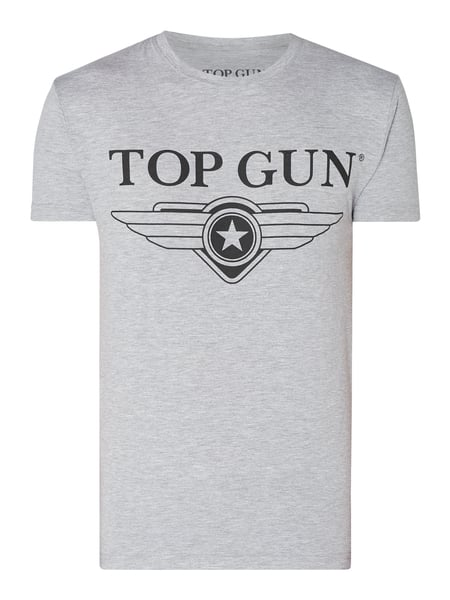 Top Gun T-Shirt mit Stretch-Anteil Grau - 1
