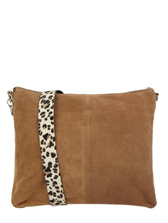 Treats Crossbody Bag aus Veloursleder Braun - 1
