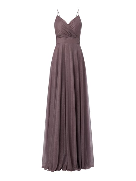 TROYDEN COLLECTION Abendkleid mit Glitter-Effekt Lila - 1