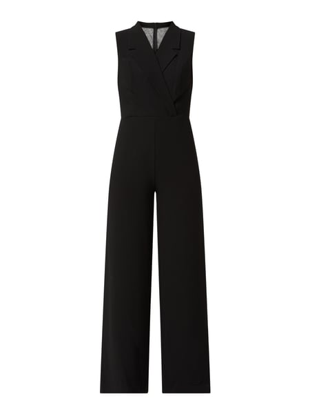 TROYDEN COLLECTION Jumpsuit in Wickel-Optik Schwarz - 1
