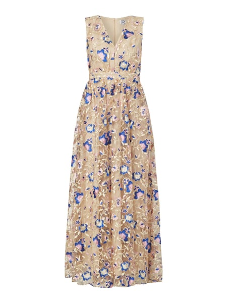 caf97b40512a TRUE-DECADENCE Abendkleid mit floralen Stickereien in Weiß online ...