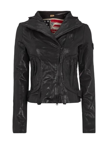 true religion lederjacke mit totenkopf aufn her in grau schwarz online kaufen 9244485 p c. Black Bedroom Furniture Sets. Home Design Ideas