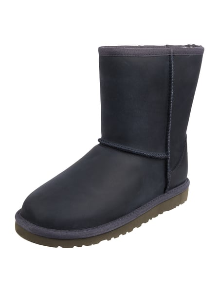 ugg boots aus leder mit lammfellfutter in blau t rkis online kaufen 9550428 p c online shop. Black Bedroom Furniture Sets. Home Design Ideas