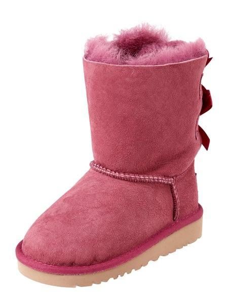 ugg boots aus veloursleder mit lammfellfutter in lila. Black Bedroom Furniture Sets. Home Design Ideas