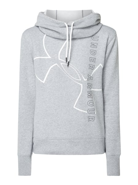 Under Armour Loose Fit Hoodie mit Logo-Print Hellgrau meliert