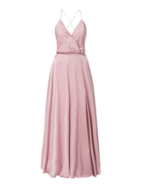 Unique Abendkleid aus Satin Rosa - 1
