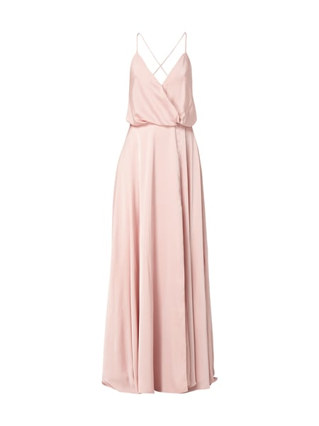 Unique Abendkleid aus Satin Rosé
